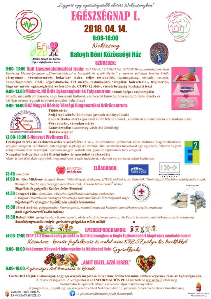 Egészségnap I. plakát