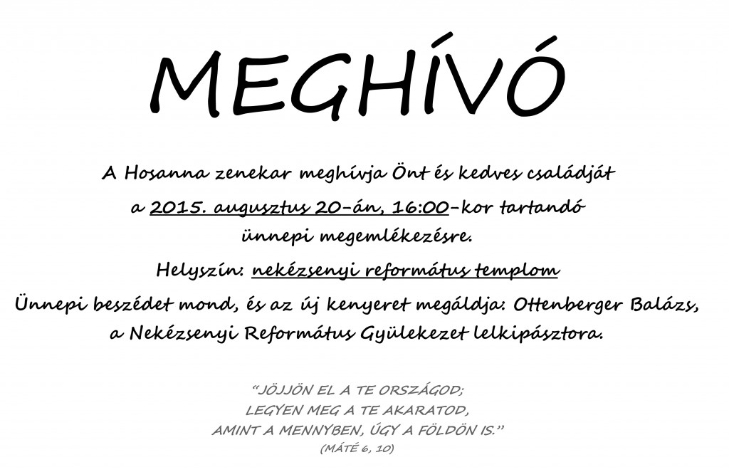 MEGHÍVÓ másolata