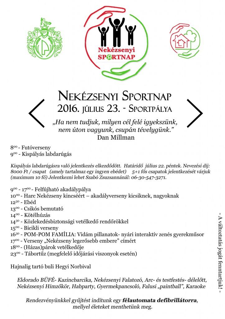 Sportnap plakát A3