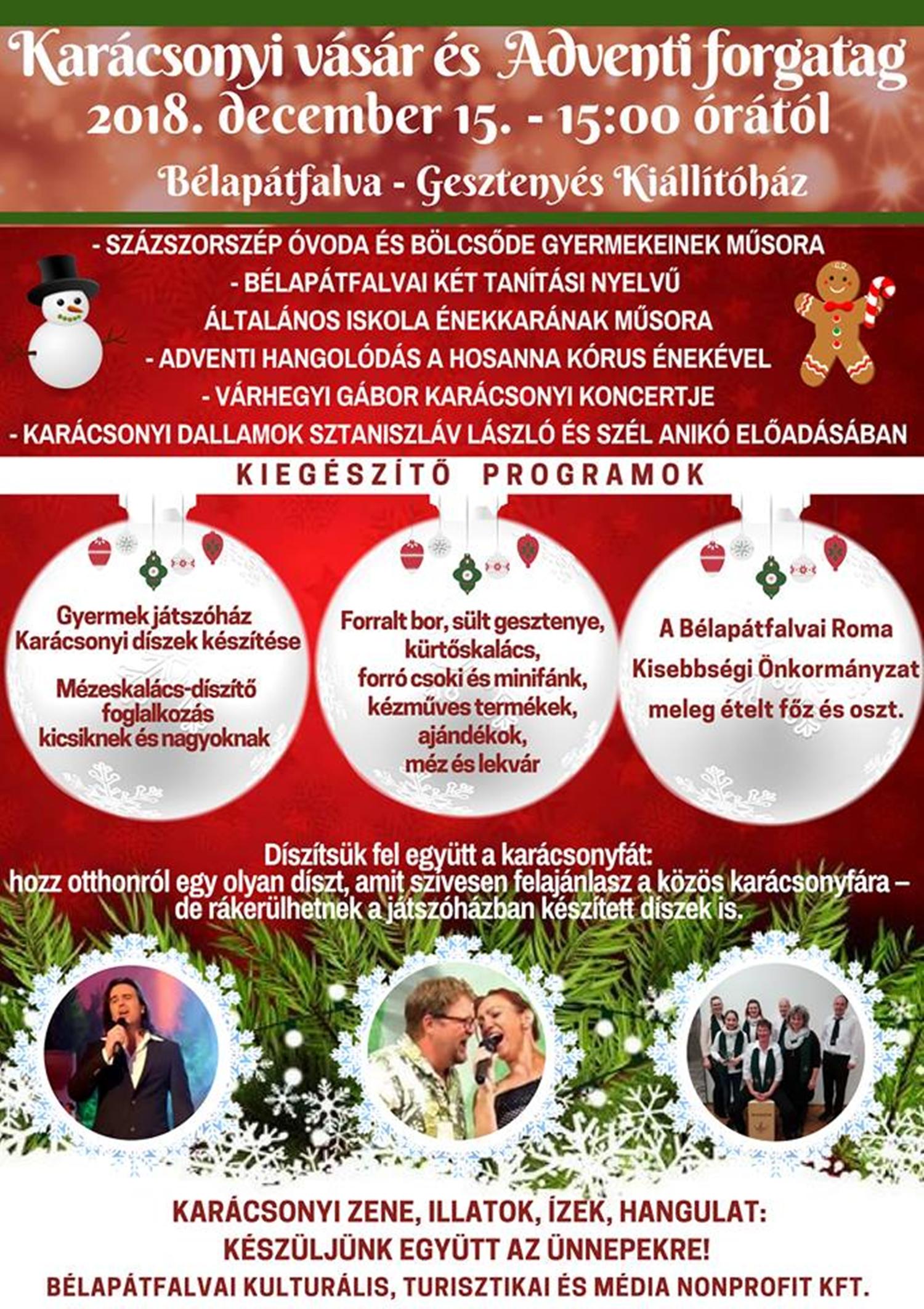Bélapátfalva- karácsonyi vásár